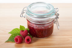 Homemade berry jam Stock Photos