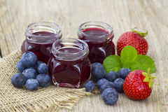Homemade berry jam Stock Images