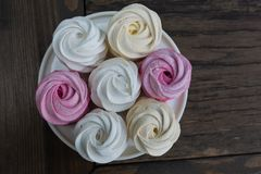 Homemade berry marshmallow Stock Photo