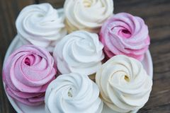 Homemade berry marshmallow Stock Images