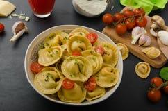 Homemade big tortellini Stock Photos