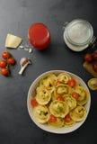 Homemade big tortellini Stock Photography