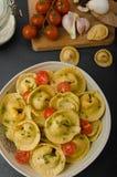 Homemade big tortellini Royalty Free Stock Images