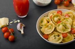 Homemade big tortellini Stock Image