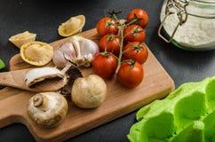 Homemade big tortellini Royalty Free Stock Image