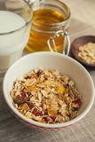 Homemade bircher muesli with toasted rolled oats Royalty Free Stock Image