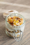 Homemade bircher muesli with toasted rolled oats Stock Photography