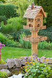 Homemade bird house Royalty Free Stock Image