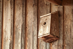 Homemade birdhouse Royalty Free Stock Image