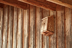 Homemade birdhouse Royalty Free Stock Images