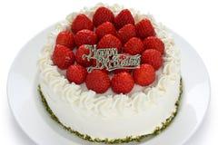 Homemade birthday cake Stock Photography