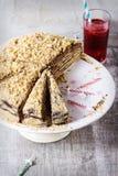 Homemade Birthday Honey Cake Royalty Free Stock Image