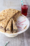 Homemade Birthday Honey Cake Royalty Free Stock Images