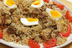 Homemade biryani Stock Image