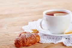 Free Homemade Biscuits And A Cup Of Tea On The Table Royalty Free Stock Photos - 103810478