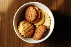 Homemade biscuits in bowl Stock Photos