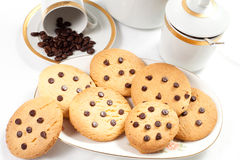 Homemade biscuits and a caff Royalty Free Stock Photos