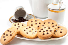 Homemade biscuits and a caff. � on the table in the morning Stock Images