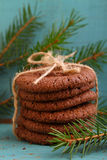 Homemade biscuits cookies with Christmas decorations Stock Images