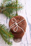 Homemade biscuits cookies with Christmas decorations Stock Image