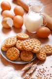 Homemade biscuits with eggs Royalty Free Stock Image