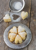 Homemade biscuits in the form of hearts. Stock Photography