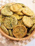 Homemade biscuits with spinach Royalty Free Stock Photos