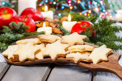Homemade biscuits in star shape Royalty Free Stock Image