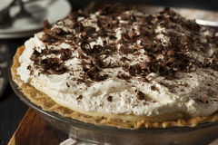 Homemade Black Bottom Cream Pie Royalty Free Stock Images