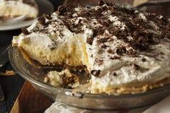 Homemade Black Bottom Cream Pie Royalty Free Stock Photo