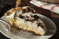 Homemade Black Bottom Cream Pie Royalty Free Stock Photos