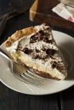 Homemade Black Bottom Cream Pie Royalty Free Stock Images