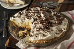 Homemade Black Bottom Cream Pie Royalty Free Stock Photography
