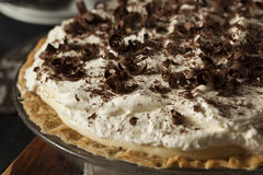 Homemade Black Bottom Cream Pie Stock Photos
