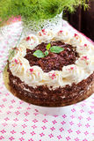 Homemade Black Forest cake Stock Photography