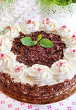 Homemade Black Forest cake Royalty Free Stock Image