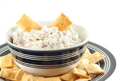 Homemade Black Forest Ham Dip With Sea Salt Crackers Royalty Free Stock Images