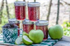 Homemade blackberry apple jam Royalty Free Stock Photography