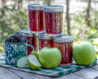 Homemade blackberry apple jam Royalty Free Stock Image
