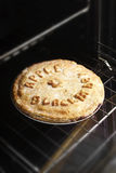 Homemade Blackberry and Apple Pie. Stock Photo