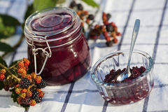 Homemade blackberry jam Royalty Free Stock Image