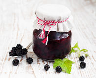 Homemade blackberry jam Stock Photos