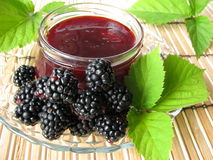 Homemade blackberry jelly Stock Photography