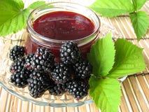 Homemade blackberry jelly stock photography