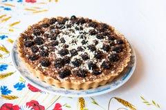 Homemade blackberry tart Stock Images