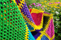 Homemade blanket. Royalty Free Stock Images