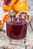 Homemade Blood Orange Juice Stock Photography