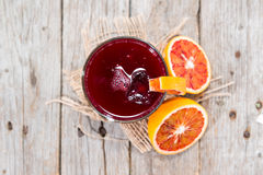 Homemade Blood Orange Juice Royalty Free Stock Photo