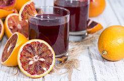 Homemade Blood Orange Juice Stock Image