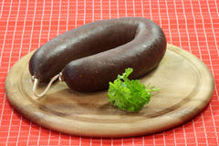 Homemade blood pudding Stock Images
